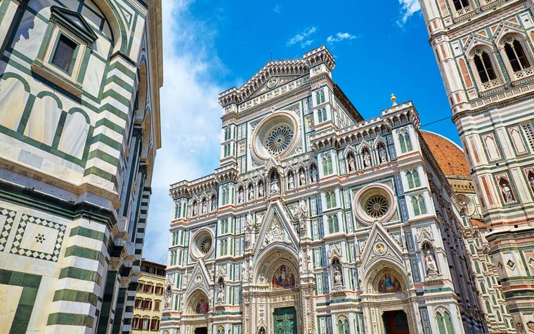 Die Kathedrale in Florence gehört zu den wichtigsten Sehenswürdigkeiten in Italien.