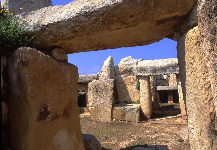 Der Tempel Mnajdra in Malta.