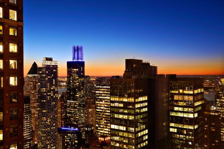 New York zur Abenddämmerung.