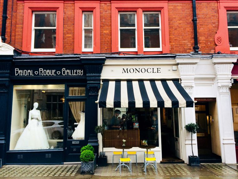 """Auf der Liste der """"most instagrammable places"""": Das Monocle-Café in der Chiltern Street."""