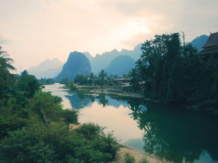 Solch schöne Aussichten wie hier in Laos hatten Jennifer und Peter von ihren Stellplätzen aus.