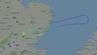 Das Flugzeug drehte über der Nordsee um, begleitet von Kampfjets.