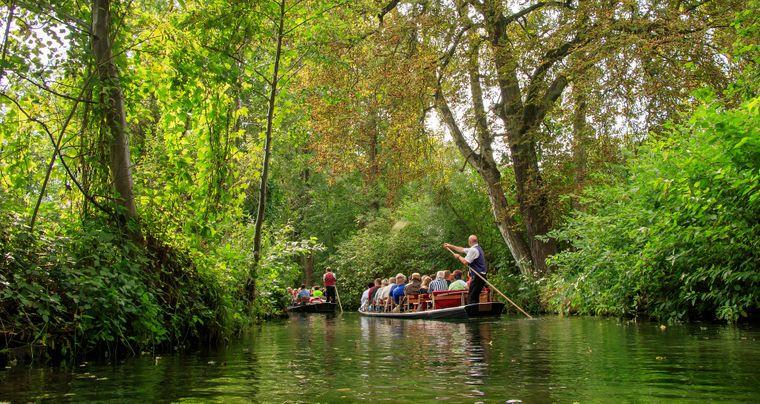 Unterhaltsame Gondoliere gibt es nicht nur in Venedig, sondern auch im Spreewald.