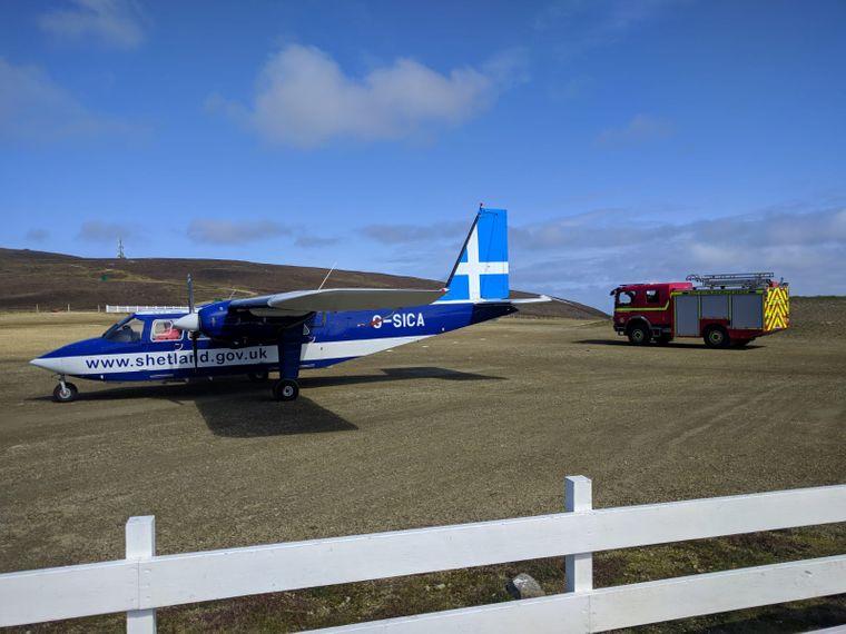 Die Anreise nach Fair Isle ist auch mit dem Flugzeug möglich.