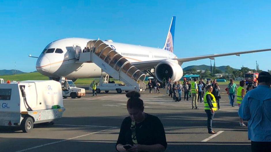 Die Boeing von United Airlines landete in Neukaledonien – nachdem Rauch im Cockpit festgestellt worden war.