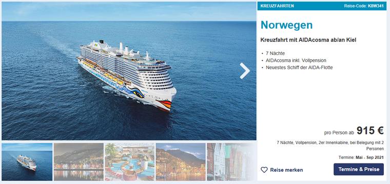 Kreuzfahrt Norwegen.