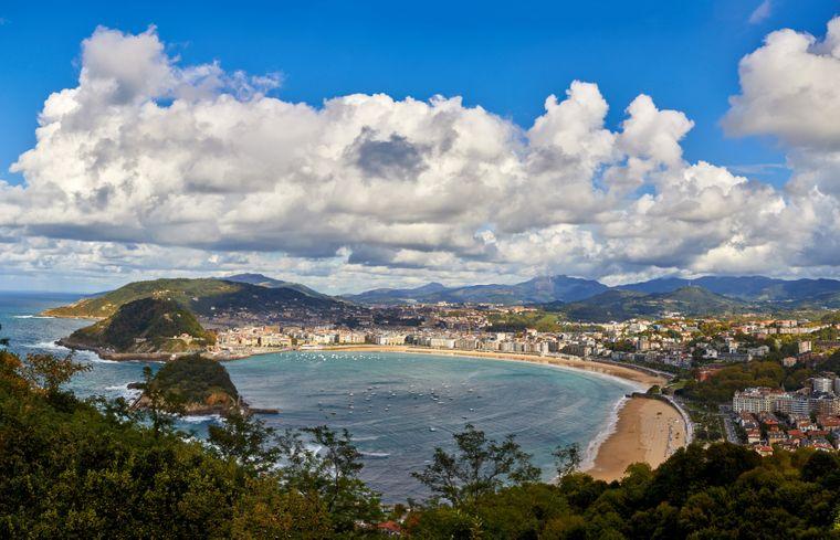 La Concha ist der bekannteste Strand im Baskenland.