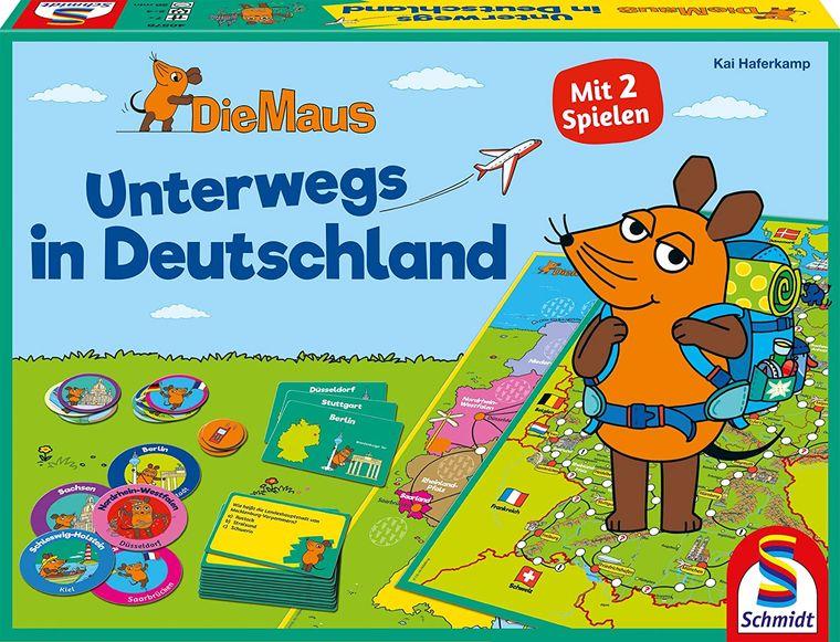 Gemeinsam mit der Maus spielerisch Deutschland erkunden: ein tolles Familienspiel, besonders für Maus-Fans.