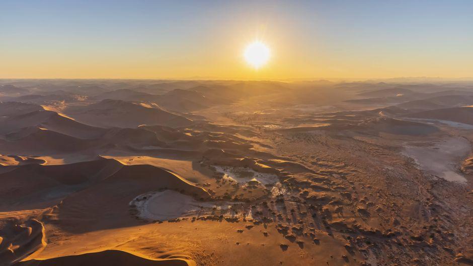 """Irgendwo in der Namib-Wüste stehen sechs Boxen, aus denen Totos """"Africa"""" in Dauerschleife schallt."""