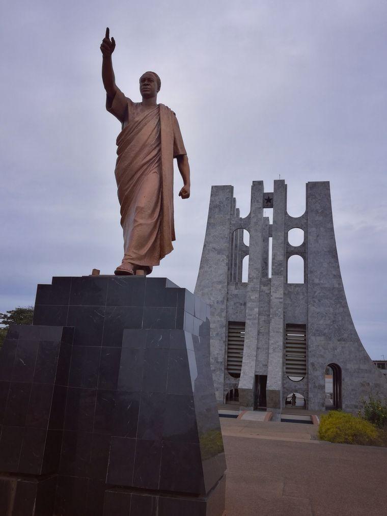 Dem Vater der Unabhängigkeit, Kwame Nkrumah, wurde in Accra ein Mausoleum gebaut.
