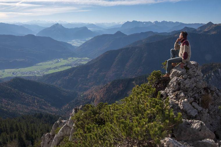 Ausblick von der Kampenwand in Bayern.