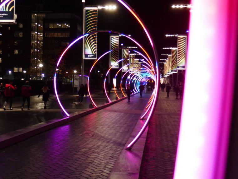 """Der spiralartige """"Sonic Runway"""" am Wembley Park."""