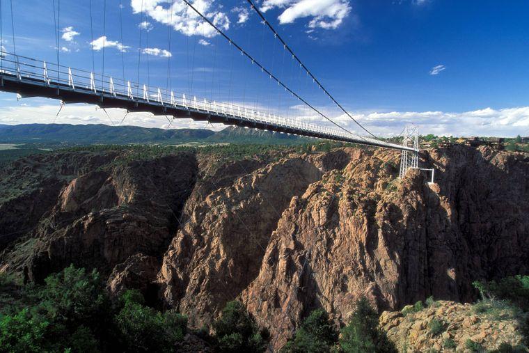 """Die """"Royal Gorge Bridge"""" im US-Bundesstaat Colorado"""