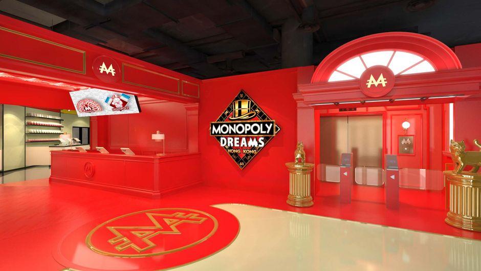 Der Eingangsbereich des Monopoly-Hotels.