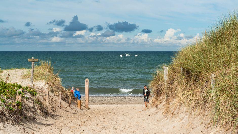Zugang zum Weststrand des Ostseebades Prerow mit seiner Ruhe und dem herrlichen Sandstrand.