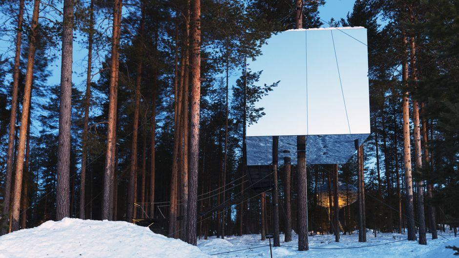 Der Mirrorcube in Schweden.