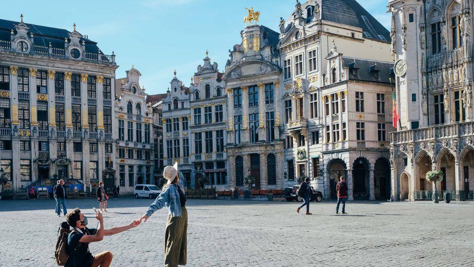 Ganz Belgien gilt als Corona-Risikogebiet. In Brüssel gibt es eine Maskenpflicht auch im Freien.