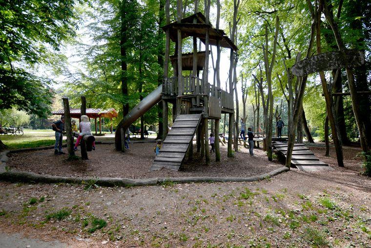 Der Waldspielplatz am Start und Ende der Wanderung.