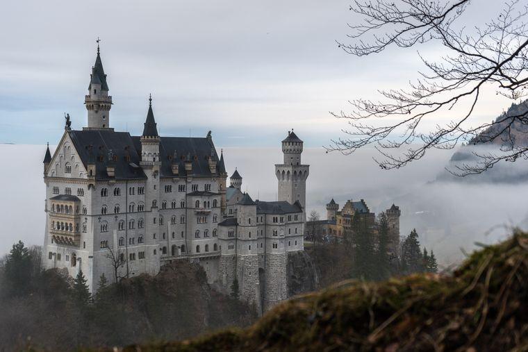 ey ließ sich vom Schloss Neuschwanstein in Bayern inspirieren.