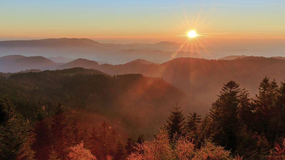 Sonnenuntergang am Schliffkopf