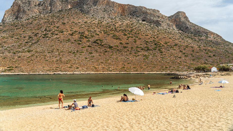 Der Strand von Stavros auf Kreta.