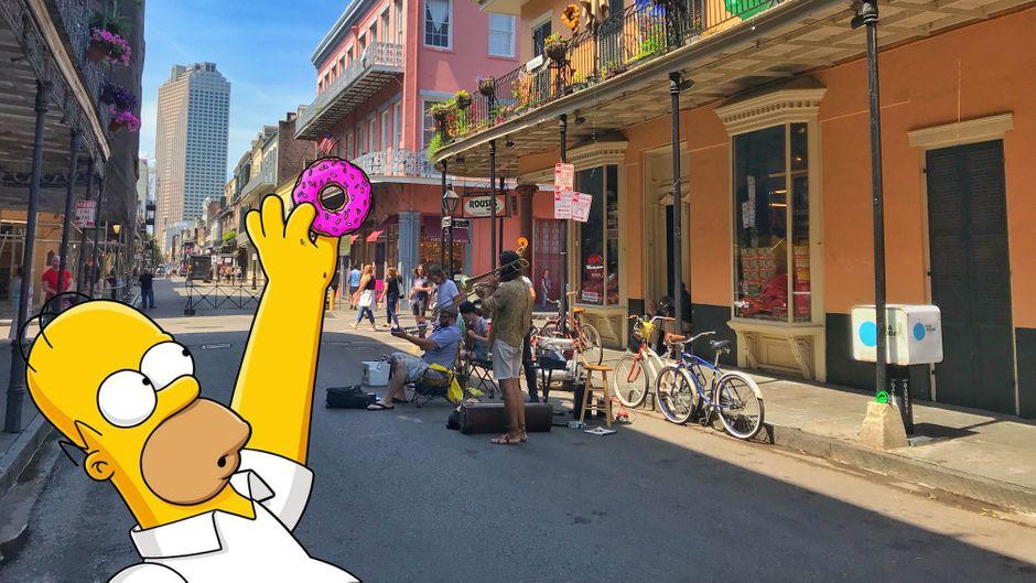Sightseeing à la Homer Simpson: Zwei Touristinnen aus der Schweiz futterten sich durch New Orleans.