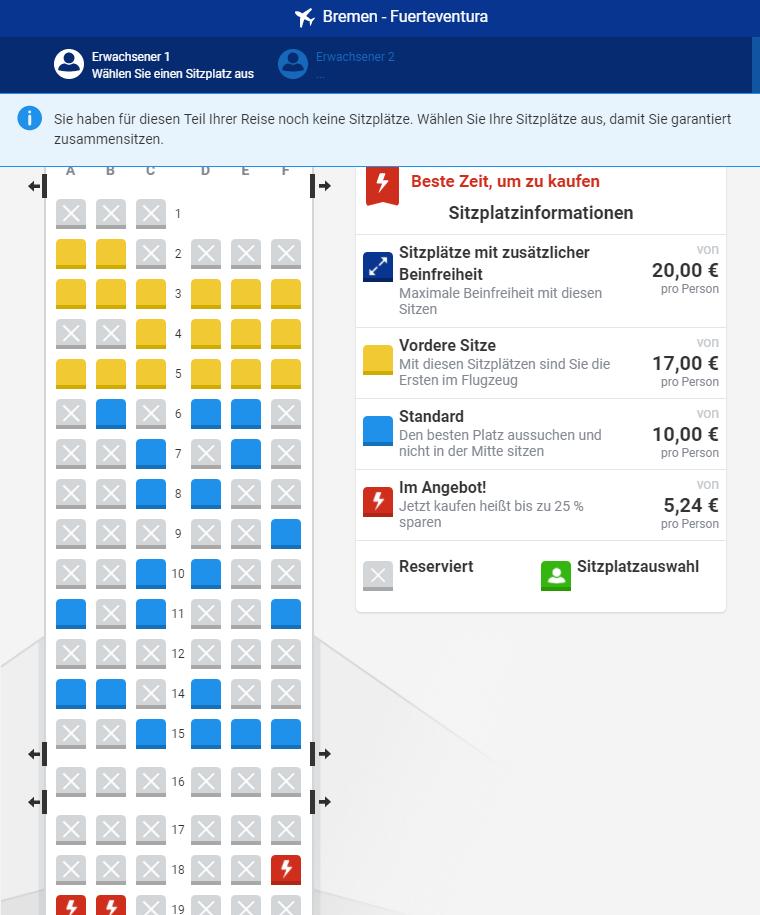 Bis zu 20 Euro müssen Passagiere bei Ryanair für einen Sitzplatz zahlen.
