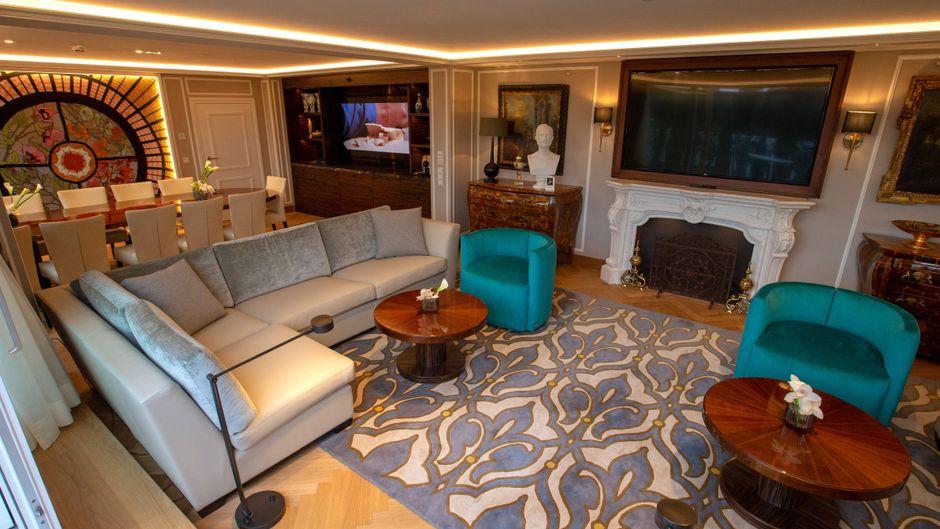 Luxus-Suite im Hotel.