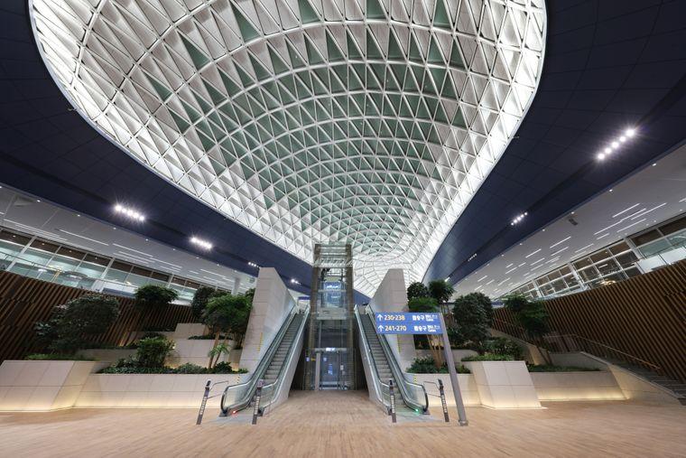 Im neuen hochmodernen Terminal 2 des Internationalen Flughafens von Seoul in Incheon sollen Passagiere in maximal 45 Minuten umsteigen können.