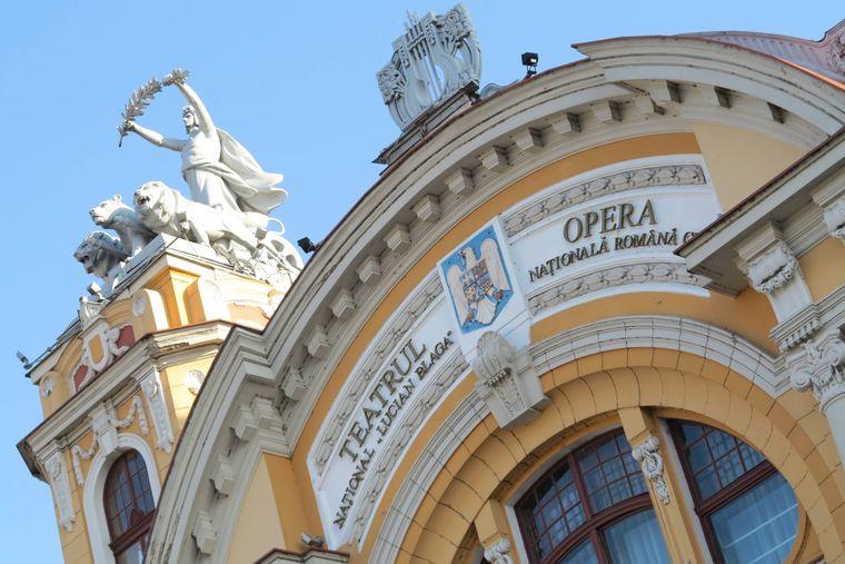 Rumänische Nationaloper und Nationaltheater in Cluj-Napoca (Klausenburg), Rumänien.