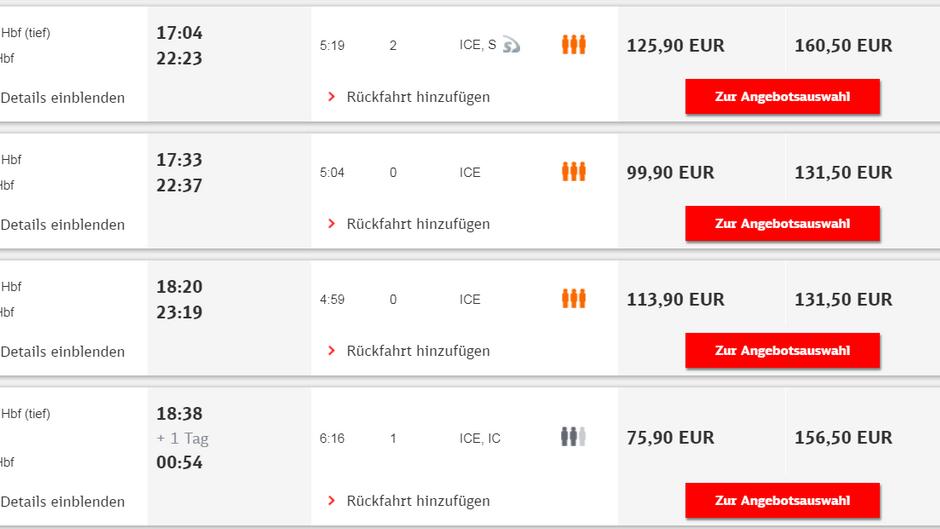 Die Deutsche Bahn prognostiziert Kunden bei der Buchung seit April, wie voll ihr Zug sein wird.