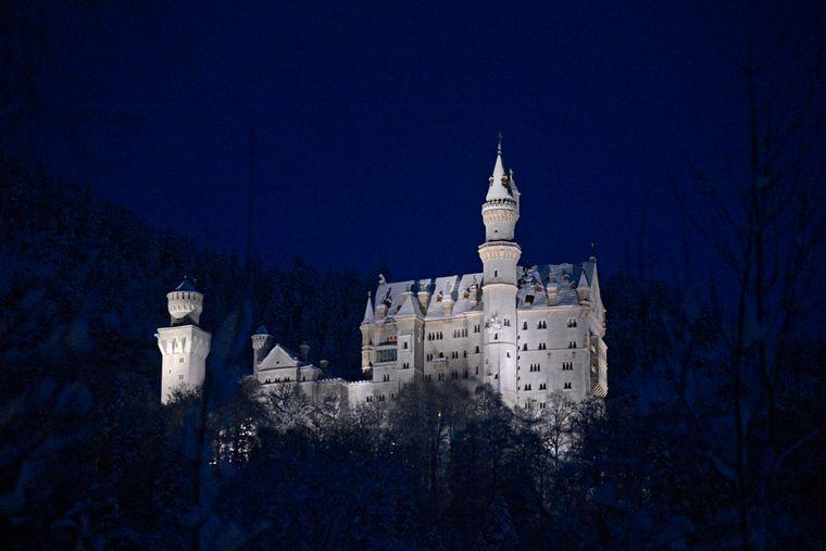 Neuschwanstein by night