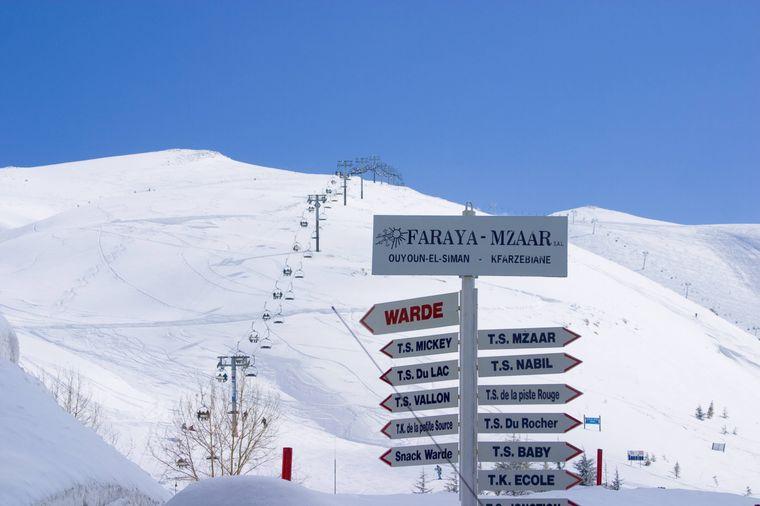 Der größte Skilift des Nahen Osten liegt im Libanon.
