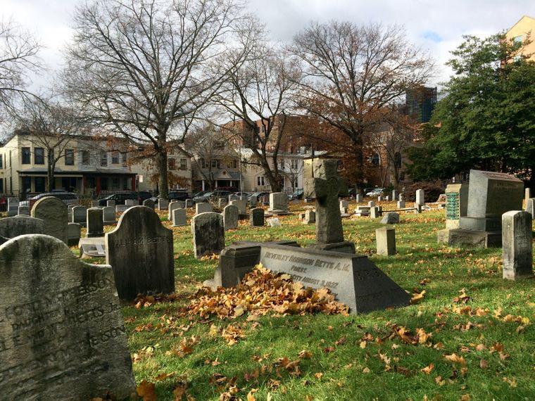 Historischer Friedhof der Grace Episcopal Church.