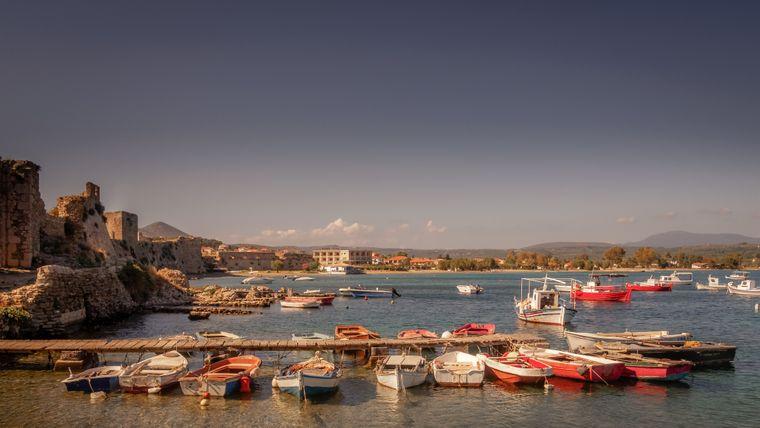 Der antike Hafen von Methoni ist das Postkartenmotiv schlechthin.