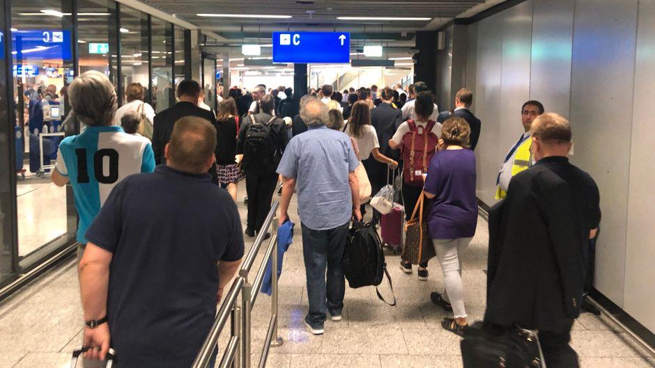 Am Flughafen Frankfurt ging am Mittwoch nichts mehr.