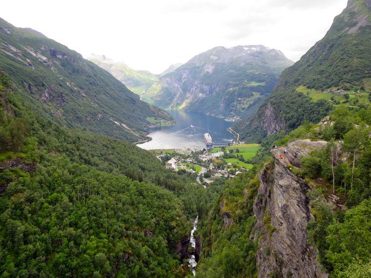 Aussichtspunkt in der Nähe von Geiranger, Norwegen.