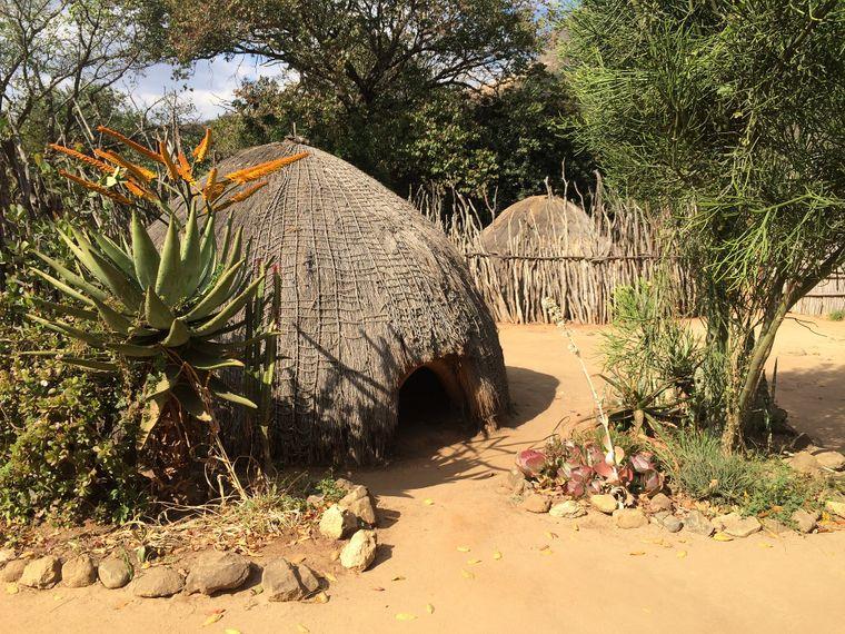 Traditionelle Bauten von Swazis