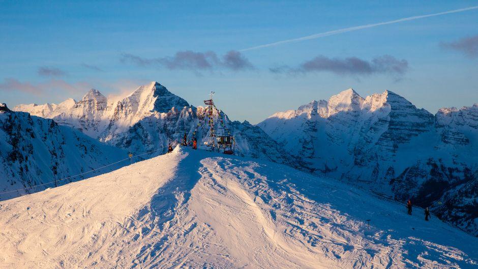 Beeindruckende Bergwelt: In Aspen in den Rocky Mountains stehen Wintersportlern vier Skigebiete offen.
