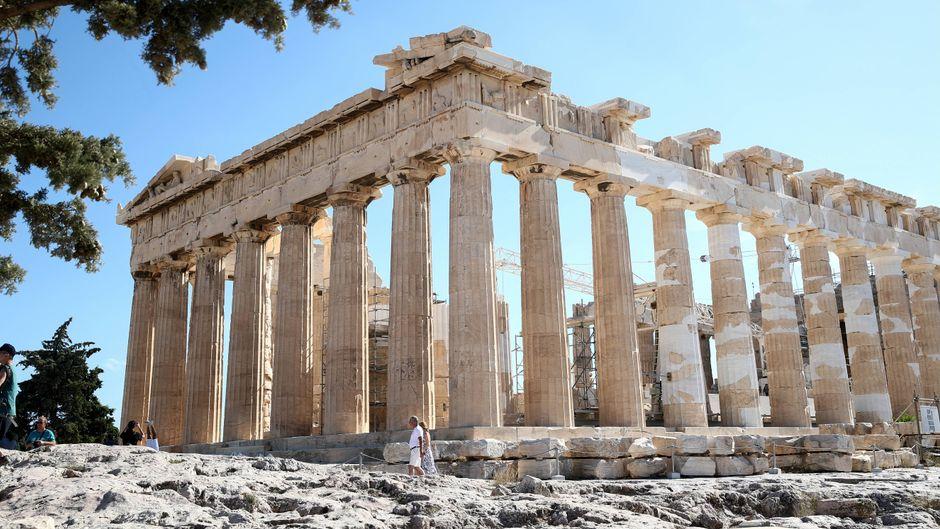 Der Parthenon auf der Akropolis in Athen.