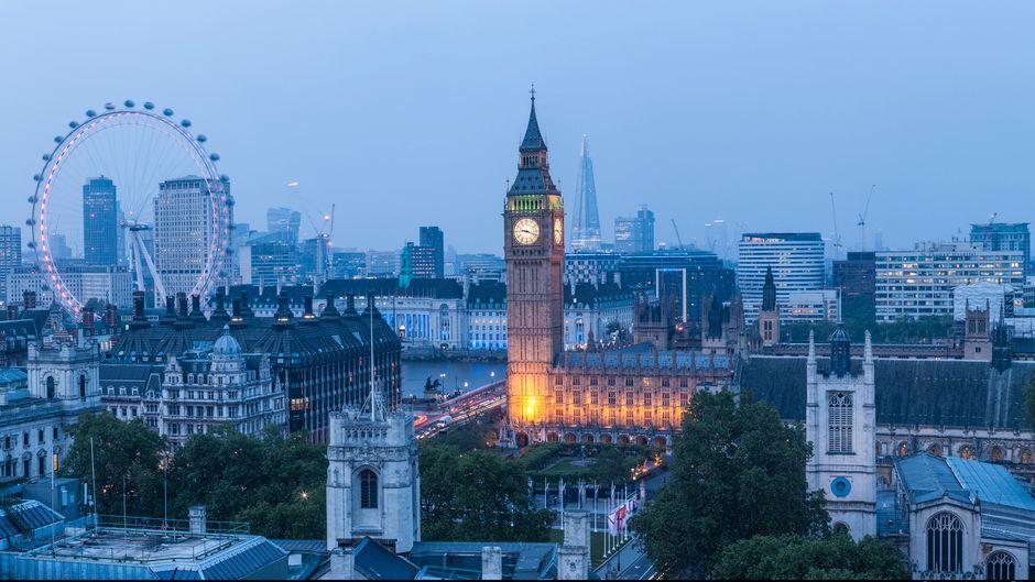 London Eye, Big Ben und Westminster Palace gehören zu den beliebtesten Sehenswürdigkeiten in London.