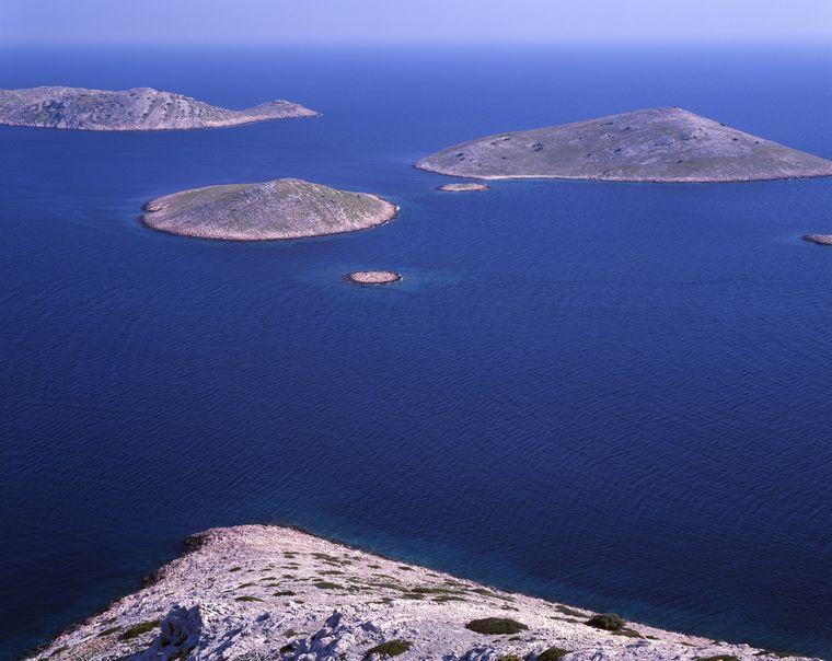 Ein Blick auf den Kornati National Park in Kroatien.