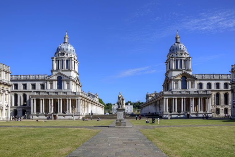 Das Old Royal Naval College in Greenwich, London.