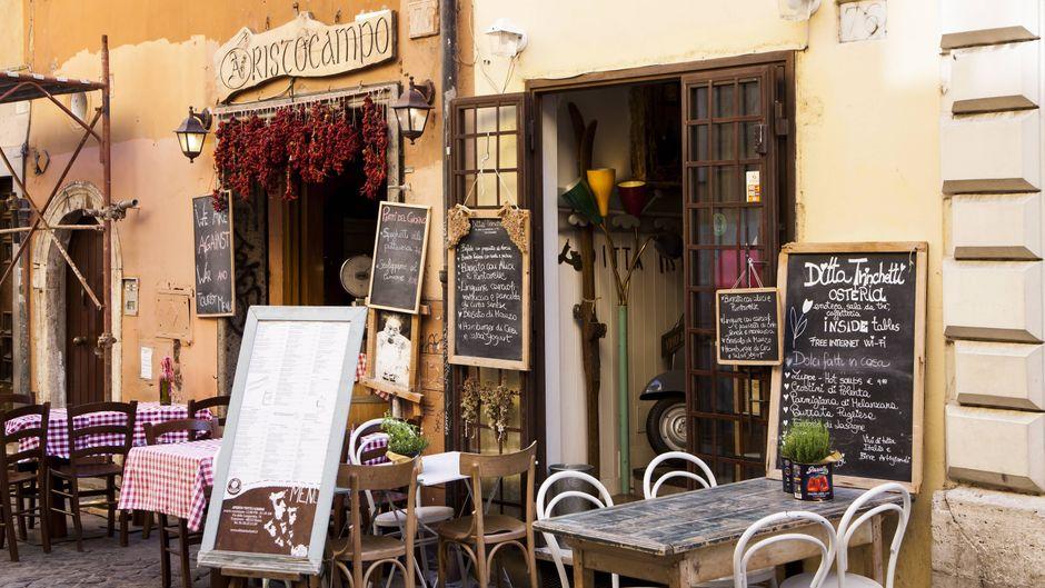 Typisches Italienisches Restaurant in Rom.