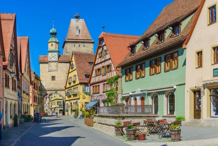 Die malerische Altstadt von Rothenburg ob der Tauber.