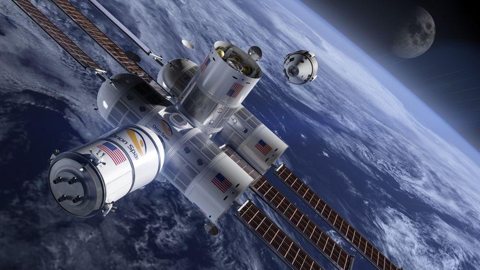 """Das Weltraumhotel """"Aurora Station"""" soll 200 Kilometer über der Erdoberfläche schweben."""