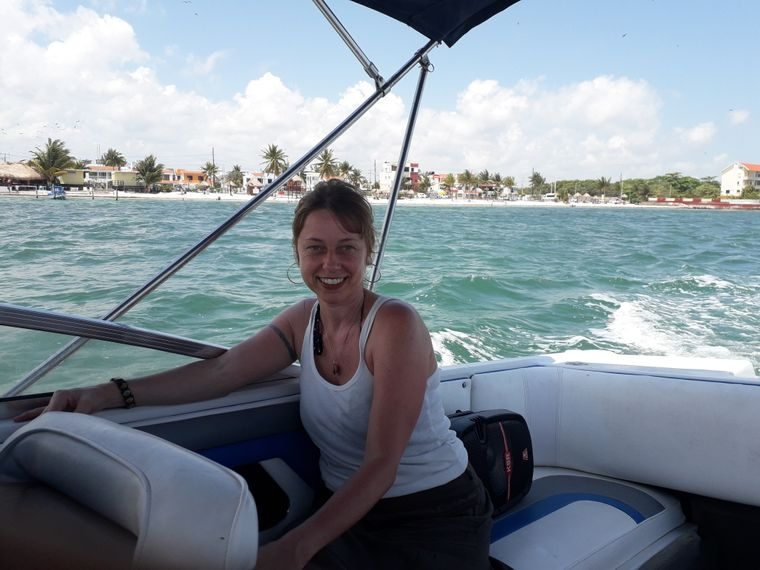 Bootstour in Cancún.