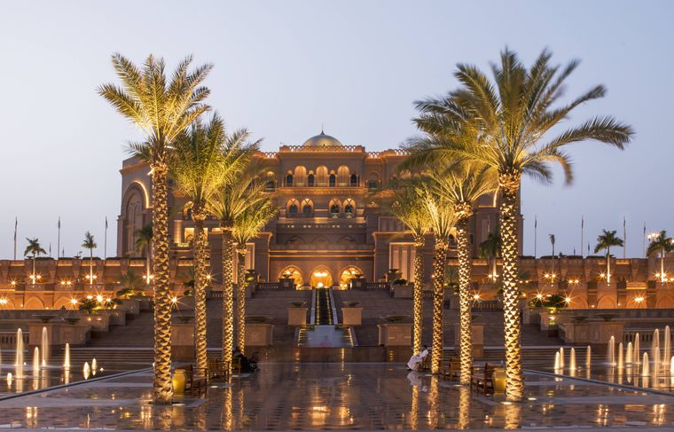 Das Emirates Palace Hotel in Abu Dhabi.