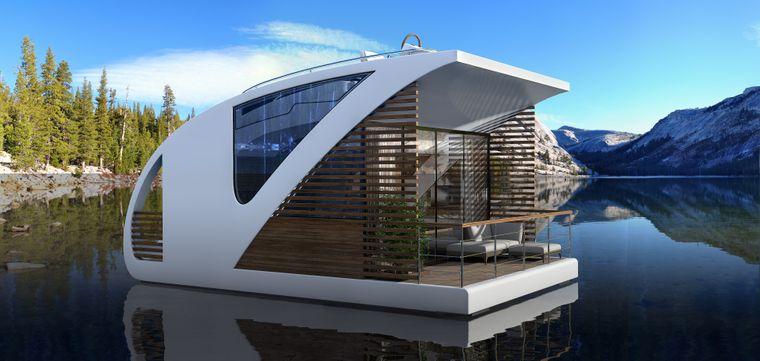"""In den schwimmenden Catamaran-Apartments des Designteams """"Salt and Water"""" kannst du in Serbien wohnen"""