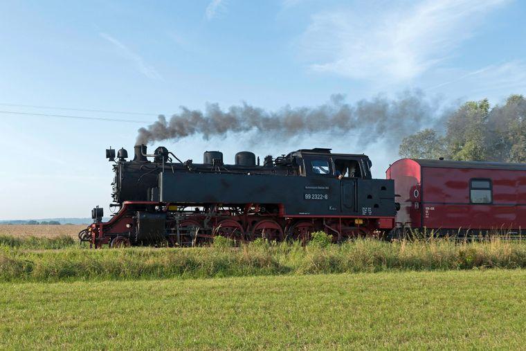 Die Dampflokomotive Molli, Mecklenburg-Vorpommern.